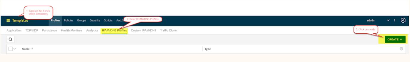 nsx-alb configure DNS and Profile